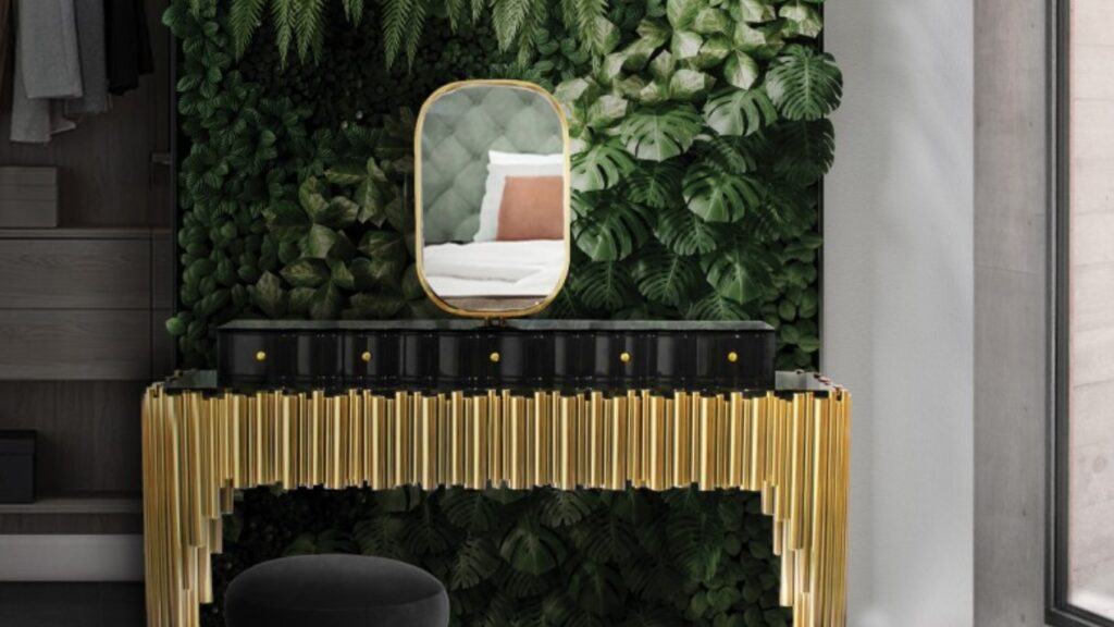 NATURE INSPIRED DRESSING ROOM WITH SYMPHONY DRESSING TABLE