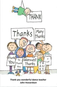 John Howardson Dance students thank you card