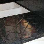 Tiled Kitchen Countertop after refinishing in MultiSpec