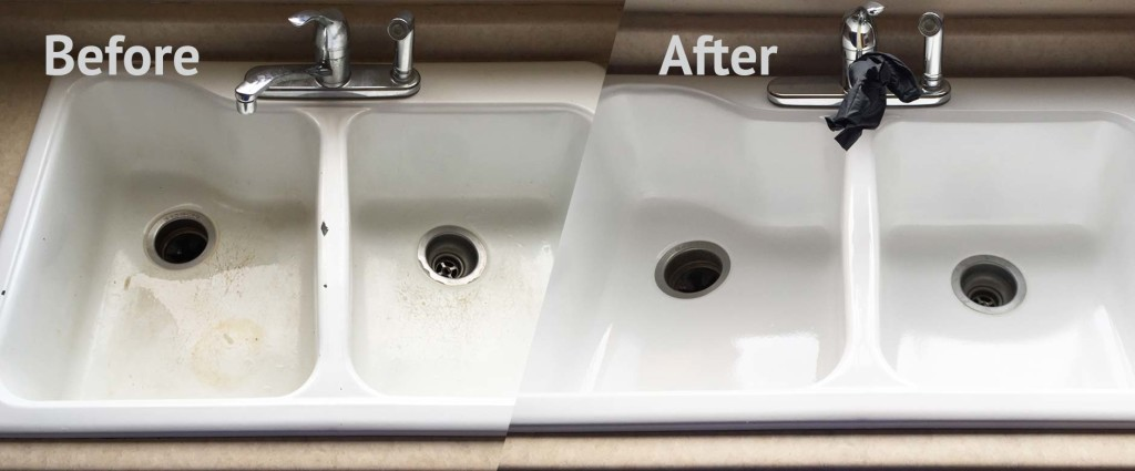 We Refinish Sinks Made Of Porcelain