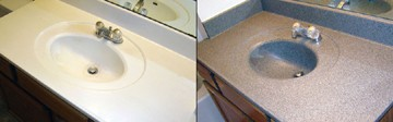 Cultured Marble Bathroom Countertop/Bowl