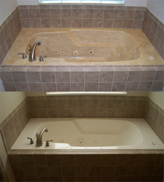 Cultured Marble Jetted Bathtub