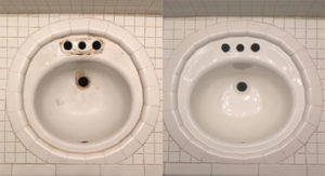 Porcelain Sink Set in Tile