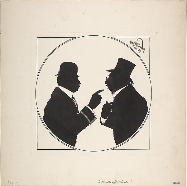 """Two men in Conversation"""