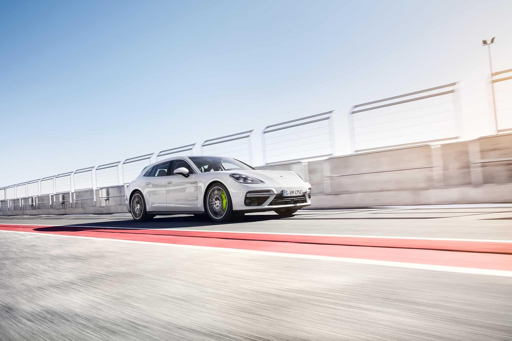 white sports car on a bridge