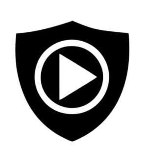 shield with a forward arrow