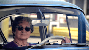 woman driving a car in Germany