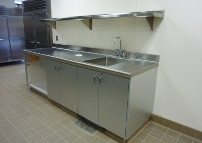 Custom Sink Counter with Overshelf