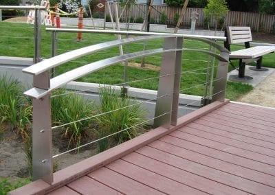 Custom Stainless Flatbar Handrail