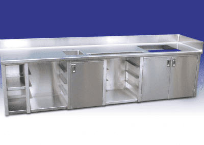 Food Service Cabinet with Tray Storage