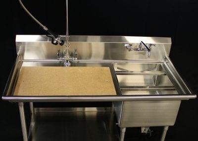 Custom Prep Table with cutting board