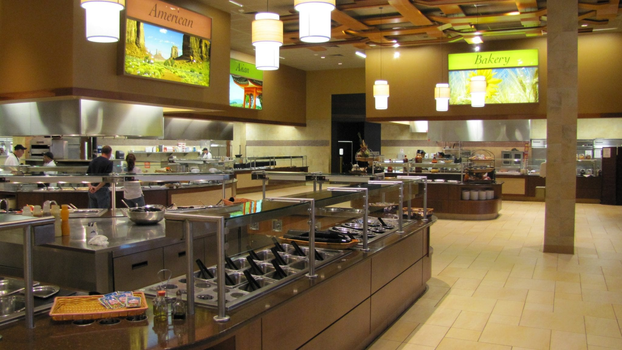 Stainless food service buffet line
