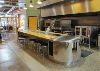 Custom Island Prep and Serving Counter