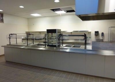 School Cafeteria with Sneezeguard