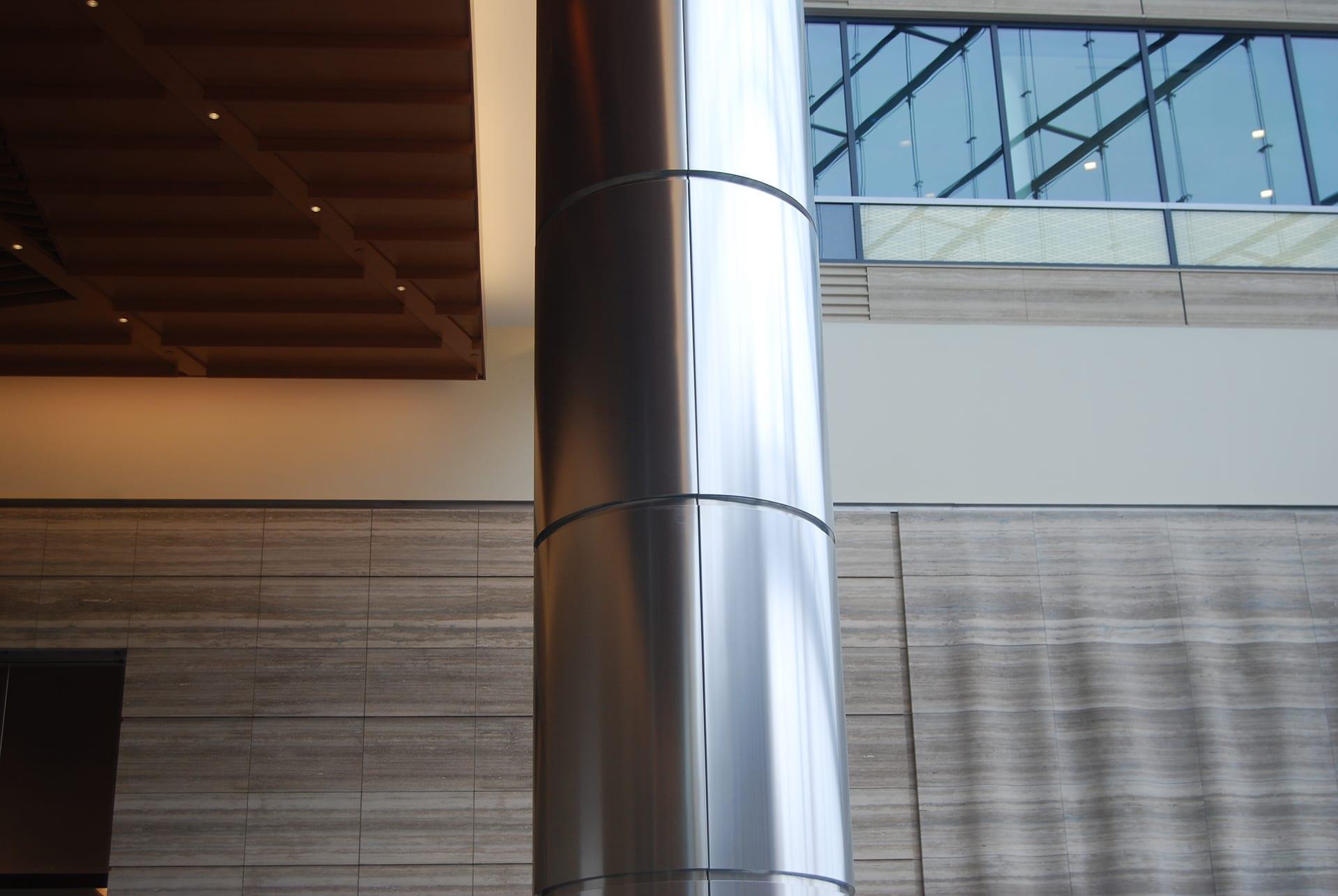Metal column panels