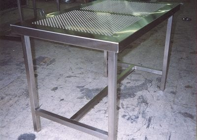 Custom Cleanroom Perforated Table