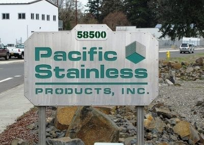 Custom Stainless Signs with Lighting