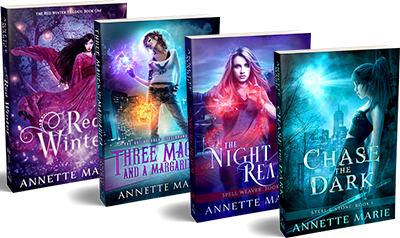 Chase the Dark, The Night Realm, Three Mages and a Margarita, and Red Winter - by Annette Marie