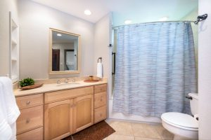 Guest Bathroom with Jetted Tub and Laundry Machines