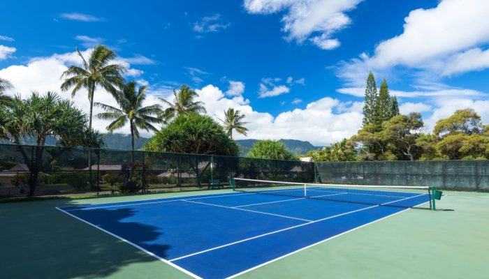 Tennis Court On Site with Mountain Views