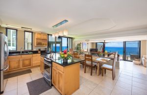 Kitchen and Dining Area with Ocean View
