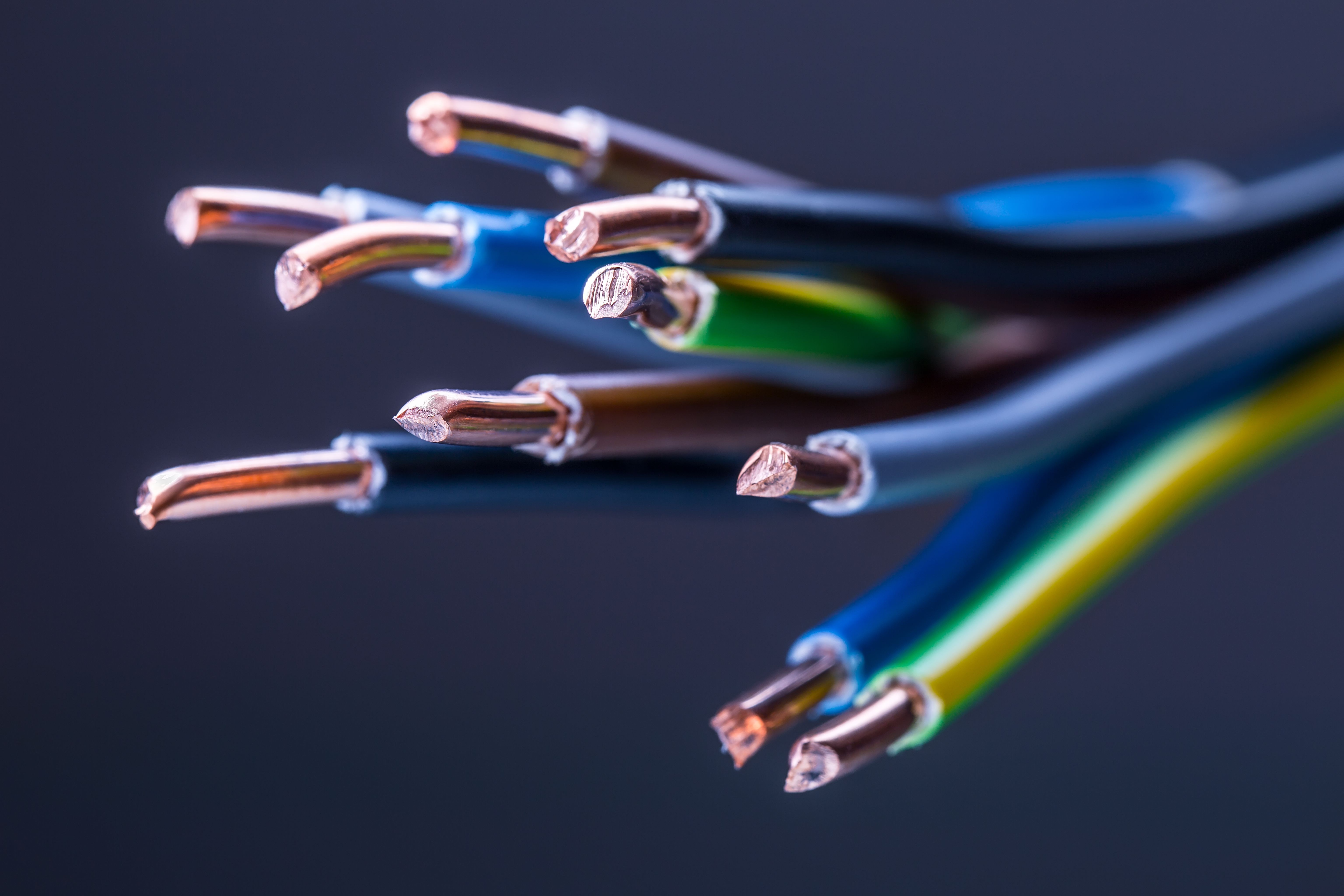 Group of colored electrical cables. Your Columbia and mid-Missouri electrical experts.