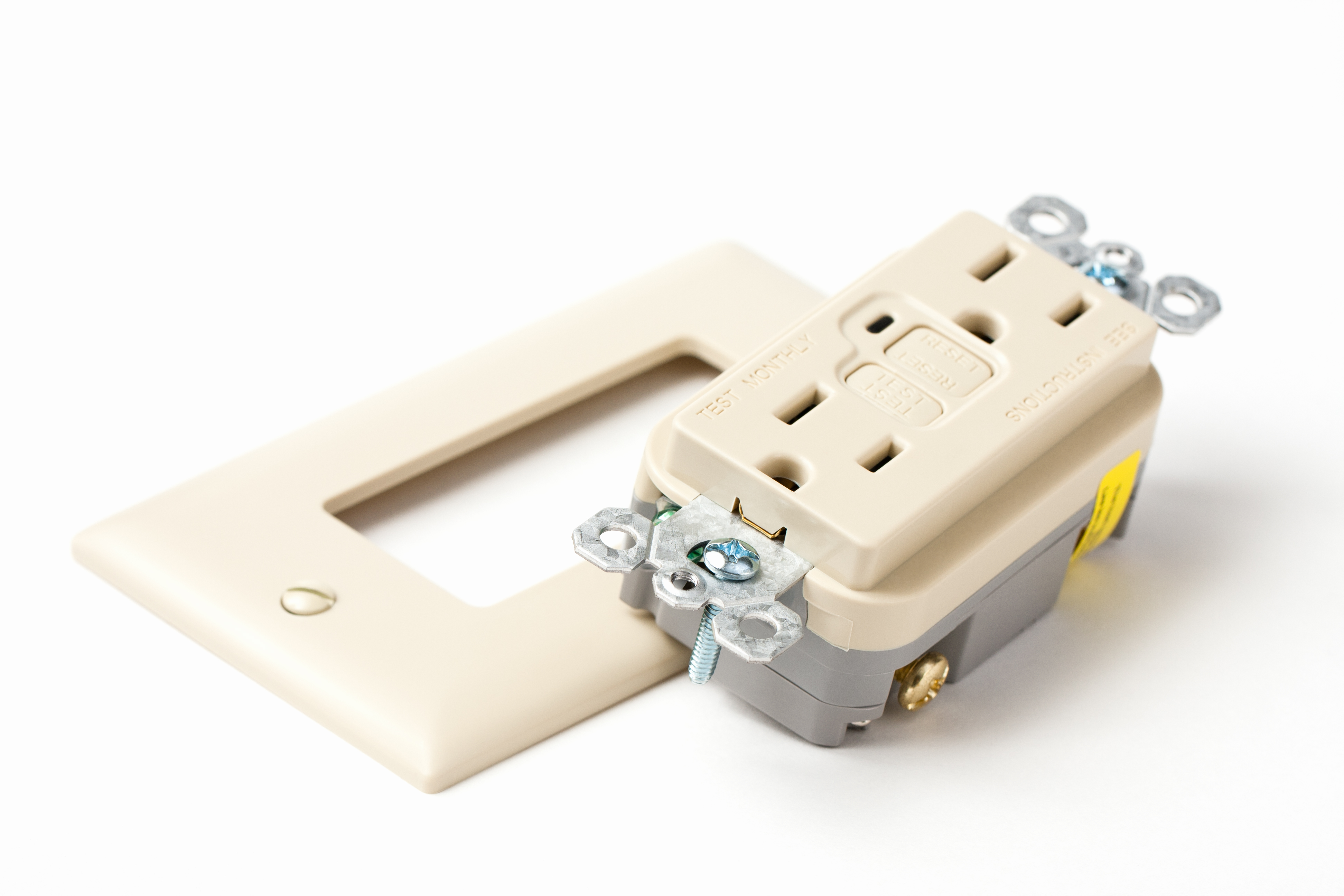 A new GFCI electrical outlet. Your Columbia and mid-Missouri electrical experts.