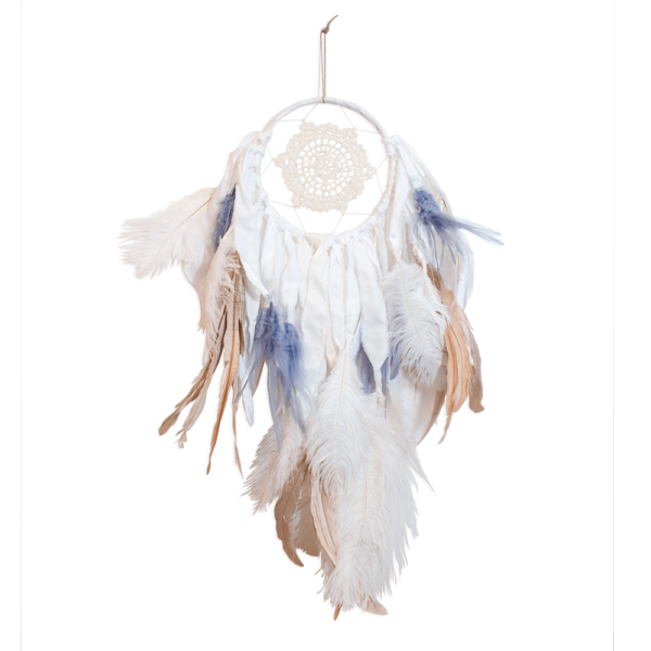 white|natural|blue-grey dream catcher
