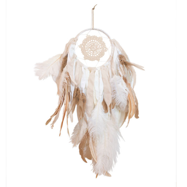 white|natural dream catcher