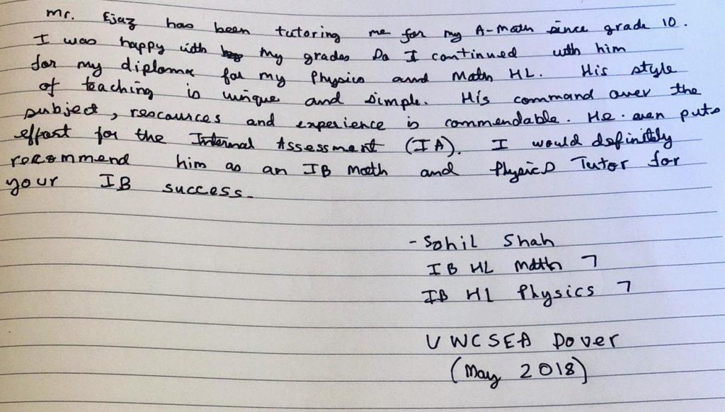 Sohil-Shah - (UWCSEA)- 2018 - Grade 7
