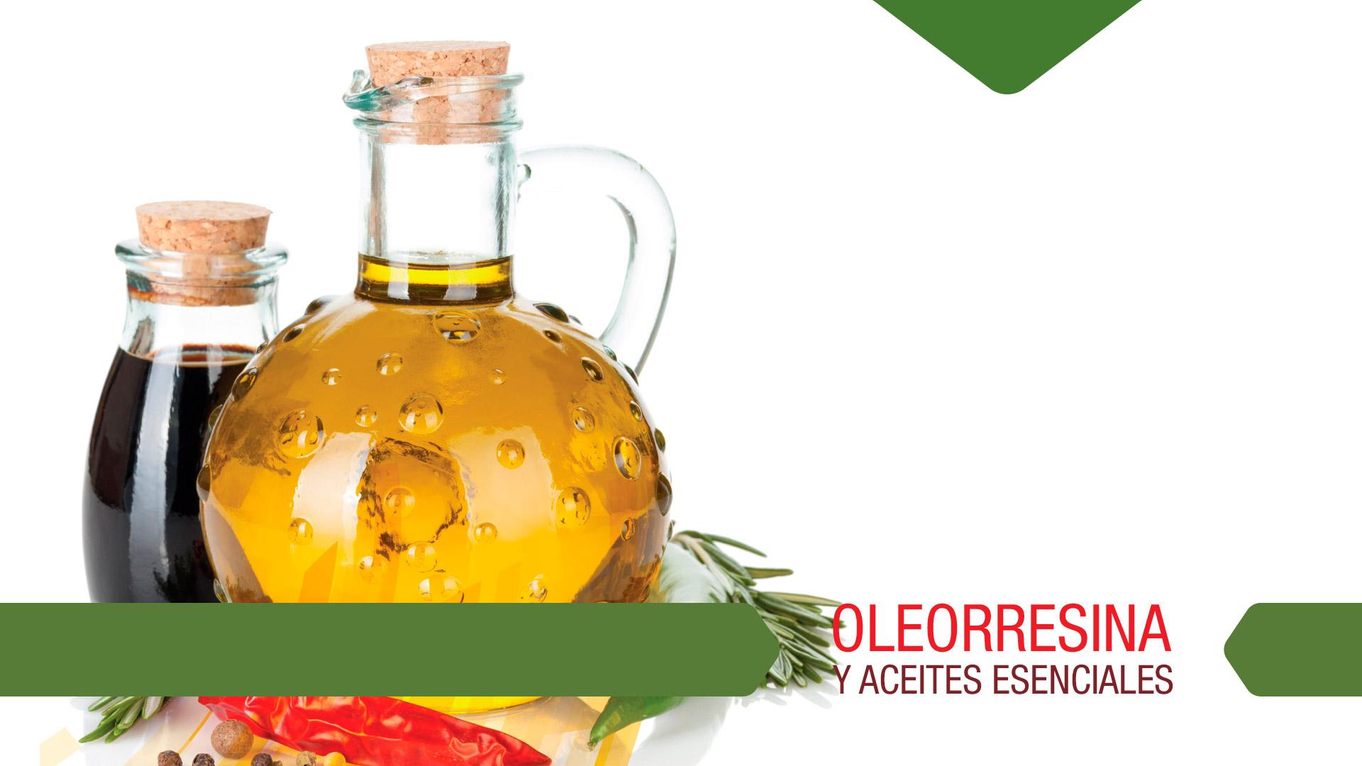 Oleorresina y aceites esenciales