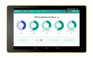 ISEE Practice Tests for Upper Level on Tablet