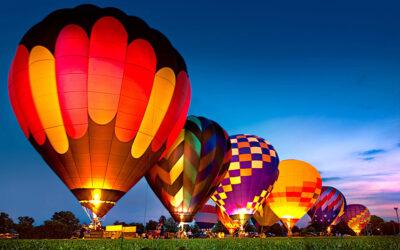 Hot Air Balloon Glow, Rides, and More at Upper Cumberland Air Fair!