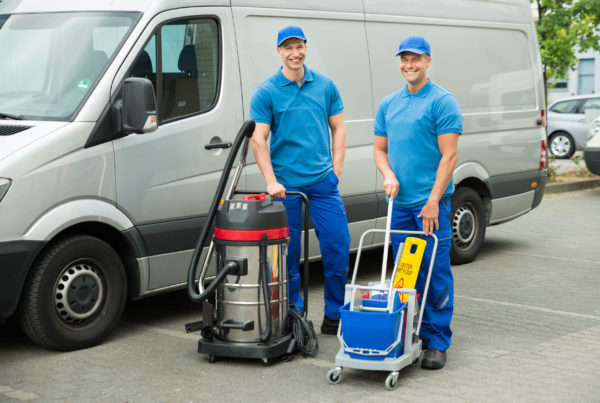 carpet cleaners working