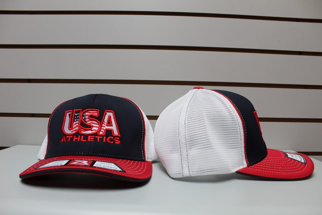 Flex Fit Trucker Hat Navy/Red/White S/M, L/XL $26.50
