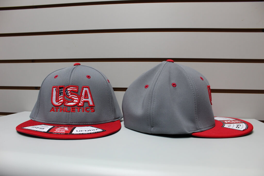 Flex Fit Moisture Hat Gunmetal/Red S/M, L/XL $26.50