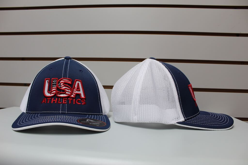 Flex Fit Trucker Hat Light Navy/White Stitch S/M, L/XL $26.50