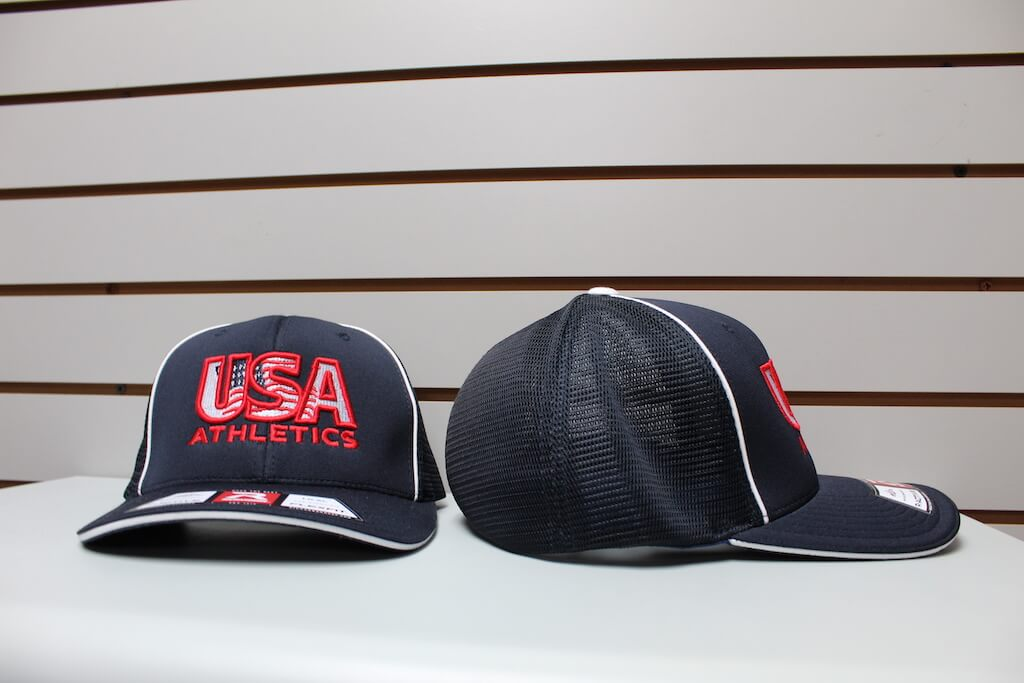 Flex Fit Trucker Hat Navy/White Piping S/M, L/XL $26.50