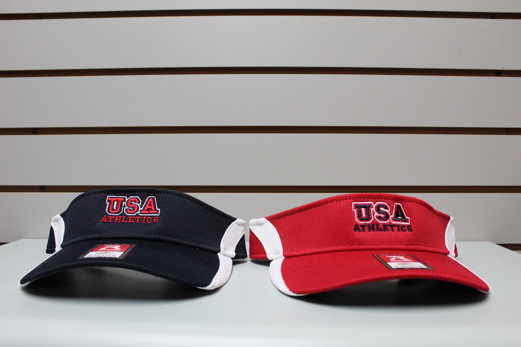 2-Tone Moisture Mesh Visor Navy/White - Red/White Adjustable $19.50