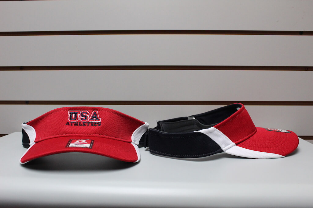 3-Tone Moisture Mesh Visor Red/White/Navy Adjustable $19.50