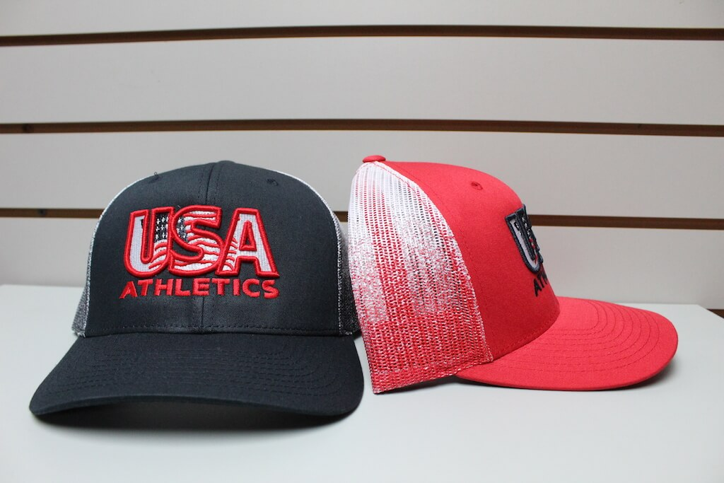 Ombré Trucker Hat Navy/White - Red/White Adjustable $22.50
