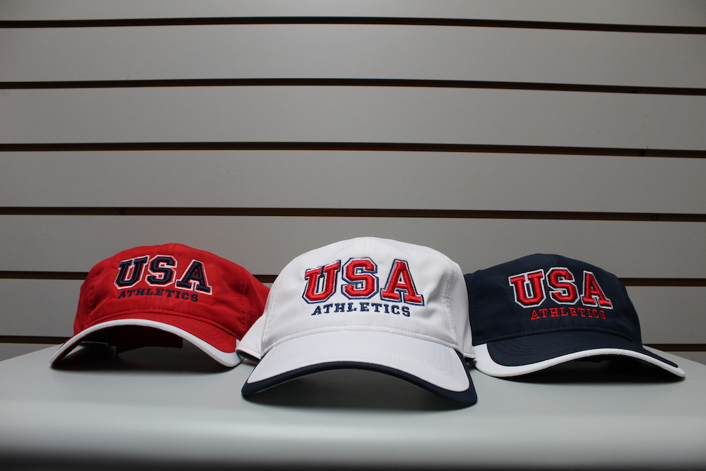 Low Profile Moisture Hat Red - White - Navy Adjustable $22.50