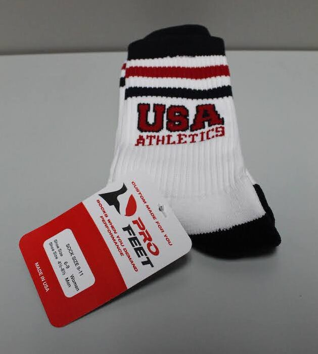 USA Crew Workout Sock White with Trim S, M, L $10.50
