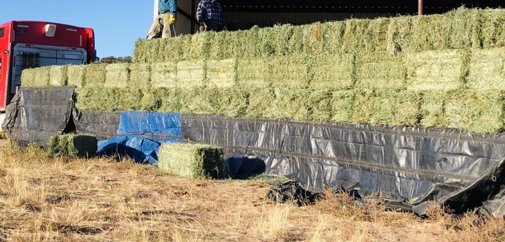 semi truck hay load