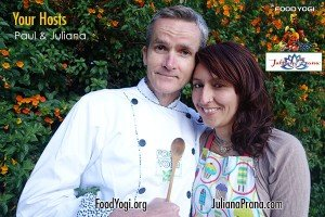 Paul is a food yogi and Juliana is a healer
