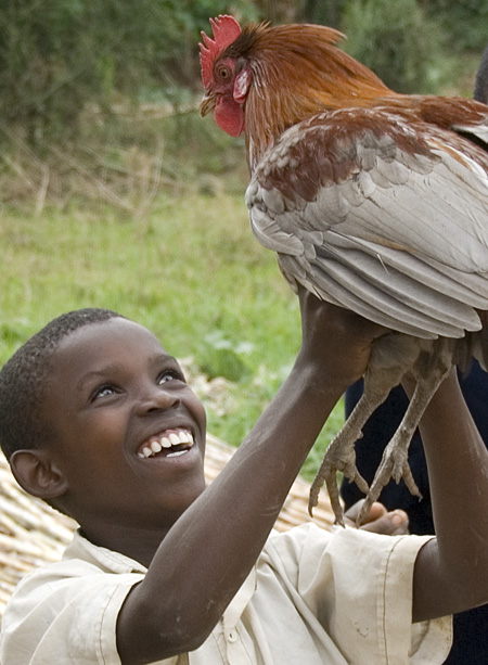 Naomie holding the rooster. 10-01-07