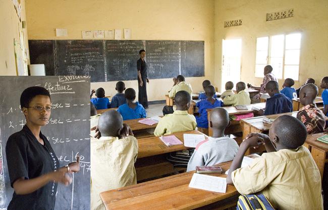 Nadi's class room and teacher. 10-01-07
