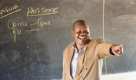 Head teacher at Kamboo primary school