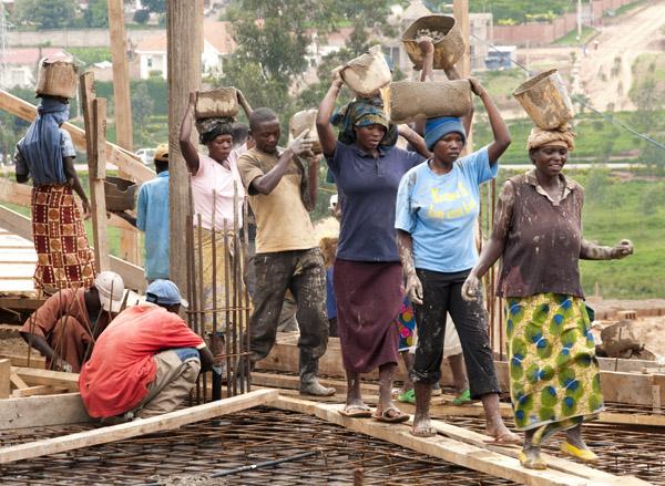 Building Kigali Parents Secondary School.