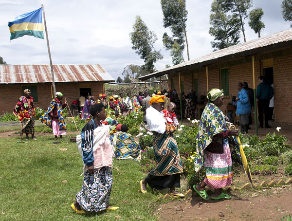 Lines form quickly as Nyamucucu residents wait to see a doctor.